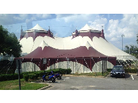 FSU Flying High Circus tent!