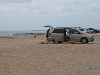 You can park your 4X4 car on the sand for easy access to your gear.