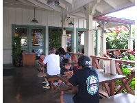 Local families enjoy a tasty lunch at Kua Aina Burger.