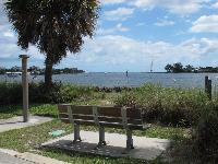 Bench with a view of the inlet.