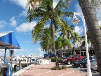 Sailfish Marina and Resort is colorful and attractive.