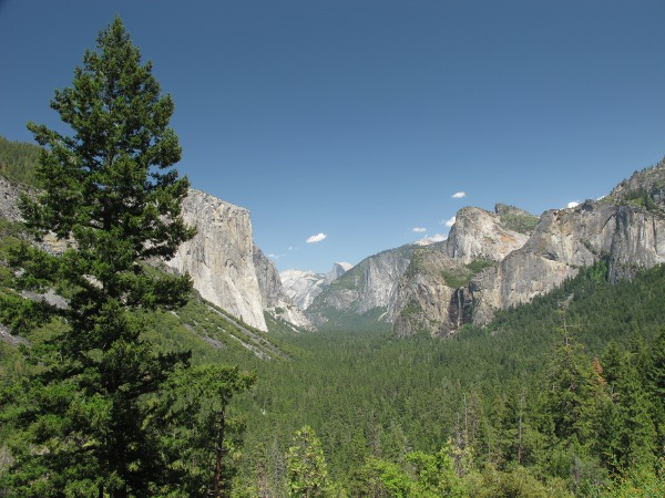 Tunnel View Lookout, Yosemite Natl Pk, San Francisco California