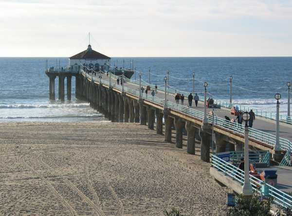 Manhattan Beach and Pier, Los Angeles California