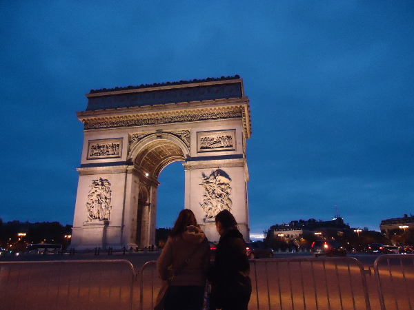Champs-Elysee and Arc de Triomphe, Paris