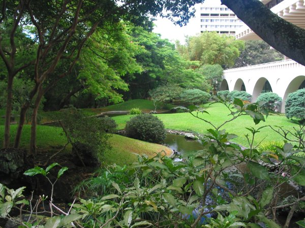 UH Manoa Japanese gardens and campus, Oahu Hawaii