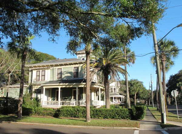 Victorian homes, Fernandina Beach, North Florida FL