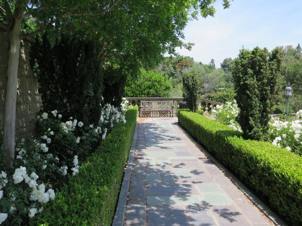 Greystone Mansion gardens, Beverly Hills, Los Angeles California