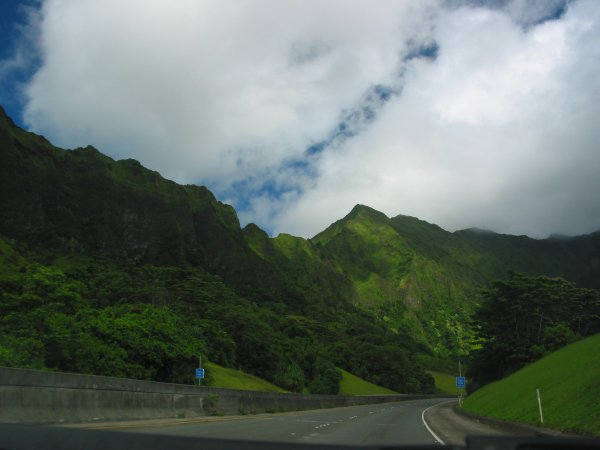 H3 Freeway and Tunnel, Oahu Hawaii