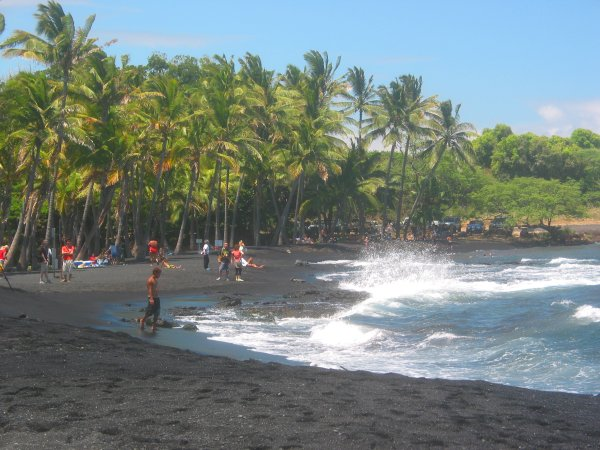 Punalu'u Black Sand Beach, The Big Island Hawaii