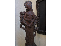 Zivena, the Slavonic goddess of life, carved by Polasek from a solid trunk of apple wood from his hometown.
