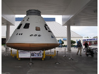 Orion crew capsule, at the entrance to the museum.