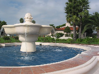 The fountain and plaza at Cabrillo Blvd and Calle Cesar Chavez.