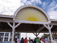 Sunshine pavilion where Atlantic Ave meets the beach.