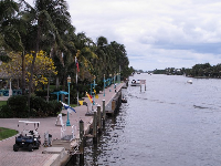View of Veterans Park from the bridge crossing the intracoastal.