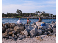 Hanging out on the rocks at the inlet.