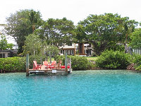 House with dock on the southern end of Jupiter Island.