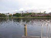 View of the University of Tampa across the river.