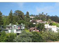 View from student co-op residence up in the hills on La Loma Ave.