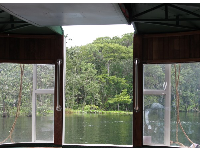 Magnificent views of nature through the back of the boat.