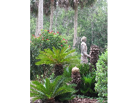 Statue of Chief Osceola in the gardens.