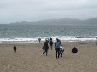 June afternoon at Baker Beach.