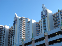 Art Deco architecture at the boardwalk.