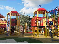 The amazing play structures.