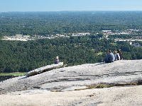 Family picnic on top of Stone Mountain.