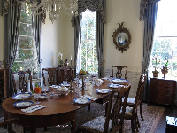 The dining room in the plantation.