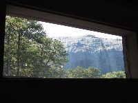 View of the mountain from the Great Barn.