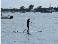 Stand-up paddleboarder.