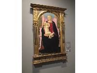 Madonna and Child Enthroned by Cosimo Rosselli, in Cornell Fine Arts Museum.