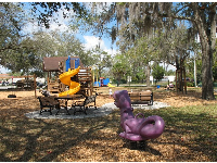 Azalea Lane Playground is a colorful, pretty playground.