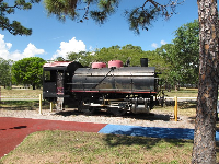 1936 switcher engine, which was oil fired. No climbing is allowed which is not much fun for kids.