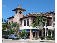 Spanish-style building.
