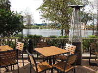 The attractive outdoor seating at World of Beer.