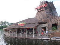 Rainforest Cafe, on the water.