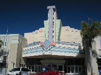 The art deco theater on Ventura's Main Street.