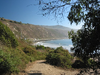 The great view as you come down the dirt path at Rincon Surfbreak, somewhat ruined by the sound of the freeway literally a few feet away.