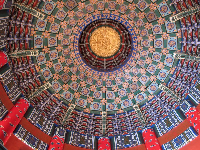 Ceiling of China pavilion.