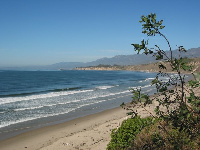Rincon Beach, as seen from the stairs.