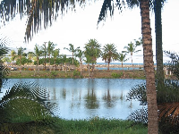 View of Lokoea Pond and the ocean from Lokoea Place.