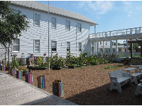 Seaside Elementary School is cute and has a butterfly garden.