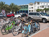 Bikes for rent from Seaside Transit Authority.