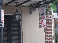 For Rent sign at an apartment in the French quarter...not haunted!