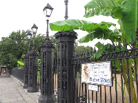 Entry gate to Jackson Square.