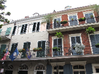 Architecture in the French Quarter.