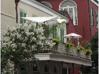 Cute balcony in the French Quarter.