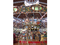 The carousel is beautiful.