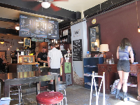 Interior of Izzy's Coffee Den.